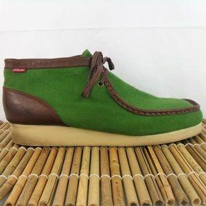 "Clarks ""Stinson"" Chukka Boot Green Textile 14M"